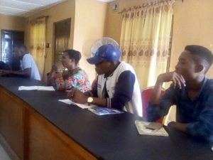FUTA students at CIA-GED conference hall