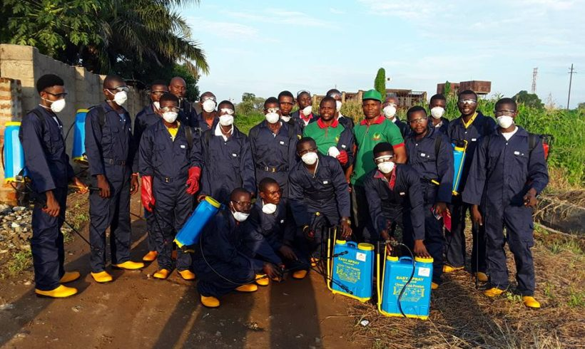 Support Youths Rice Farmers in Benue State on Spraying Service Provision